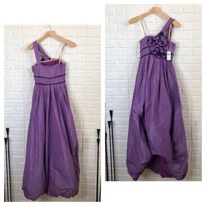 BCBGmaxazaria nylon one shoulder ball gown